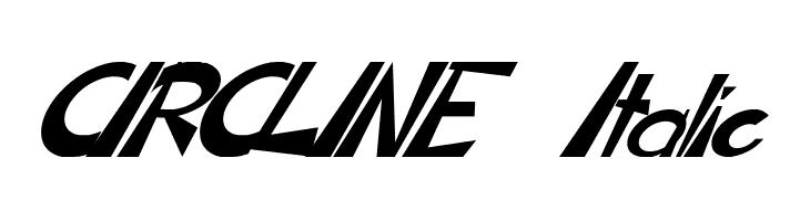 CIRCLINE Italic  フリーフォントのダウンロード