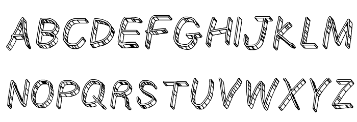 CiSf OpenHand Glass Oblique Font UPPERCASE