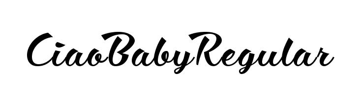 Ciao Baby Regular  Descarca Fonturi Gratis