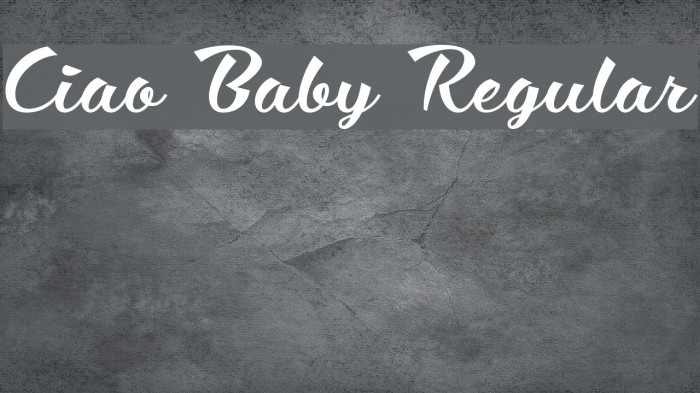 Ciao Baby Regular Font examples