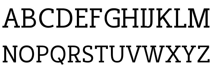 Cicero Serif फ़ॉन्ट अपरकेस