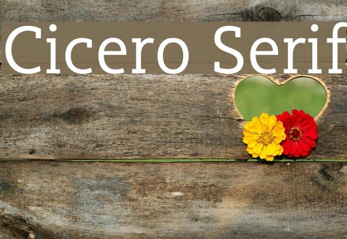 Cicero Serif फ़ॉन्ट examples