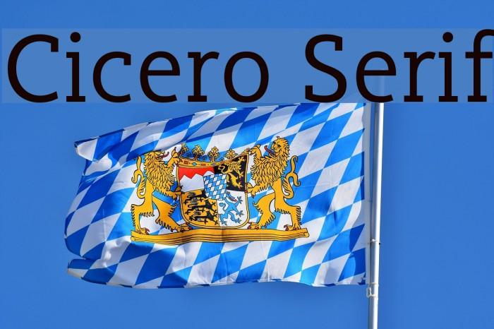 Cicero Serif Polices examples