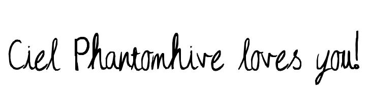 Ciel Phantomhive loves you!  baixar fontes gratis