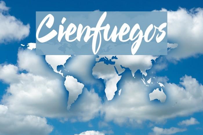 Cienfuegos Font examples