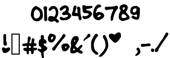 CindyyoBold Шрифта ДРУГИЕ символов