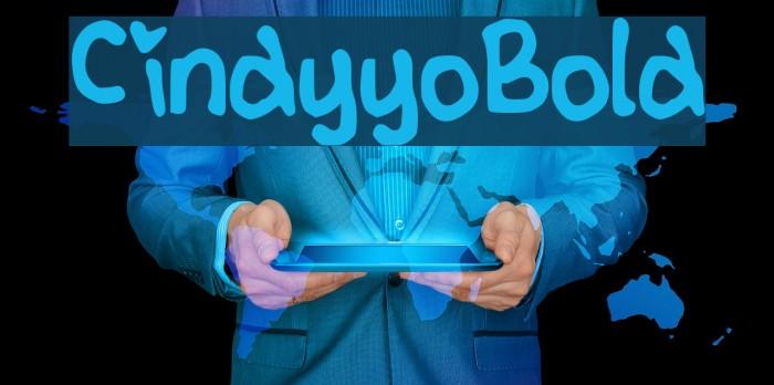 CindyyoBold Шрифта examples