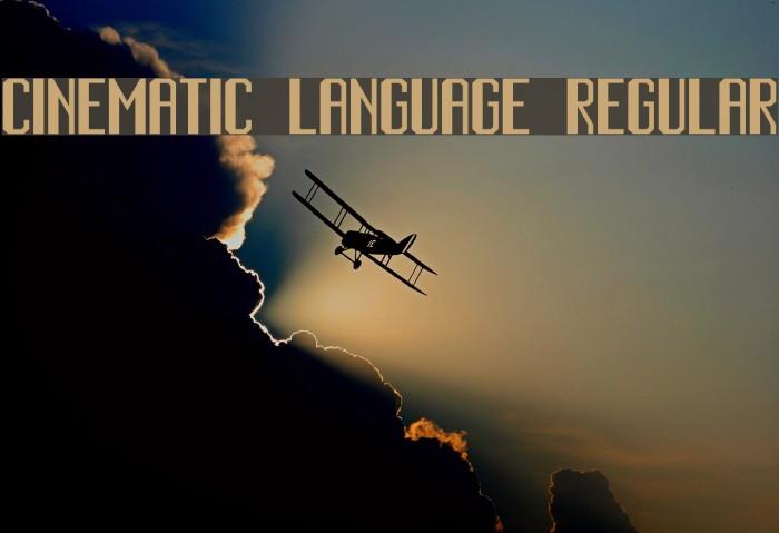 Cinematic Language Regular Font examples
