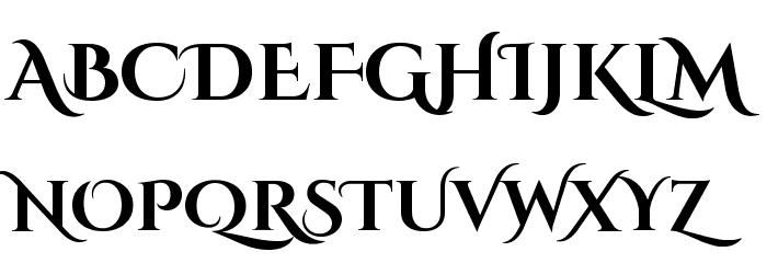 Cinzel Decorative Bold Font UPPERCASE