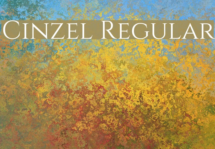 Cinzel Regular Font examples