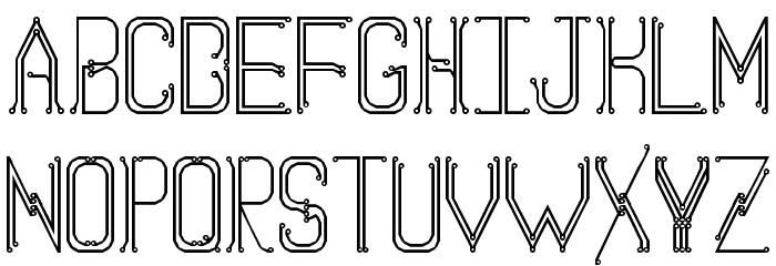 circuitboard regular font