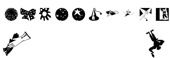 Circus Шрифта ДРУГИЕ символов