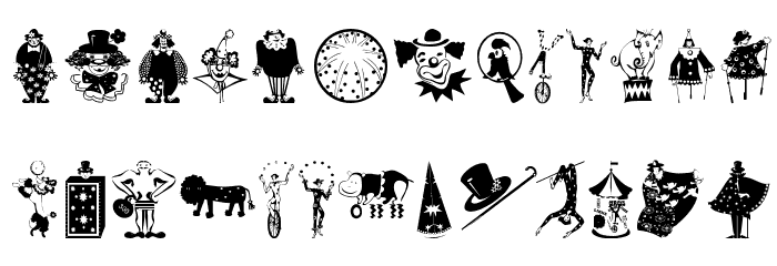 Circus Font UPPERCASE