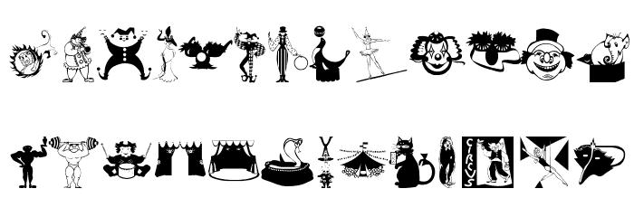 Circus Шрифта строчной