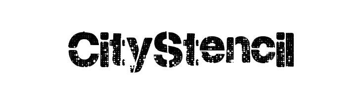 CityStencil  Скачать бесплатные шрифты