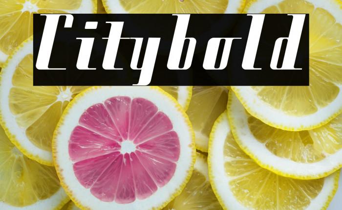 Citybold Fonte examples
