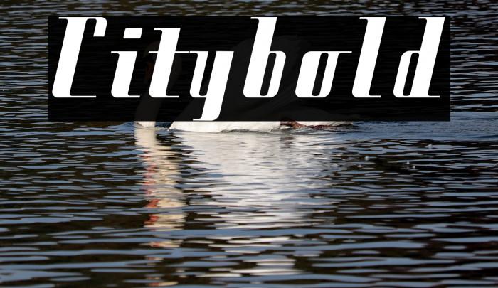 Citybold फ़ॉन्ट examples