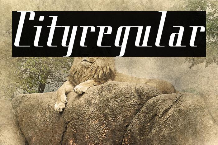 Cityregular Font examples
