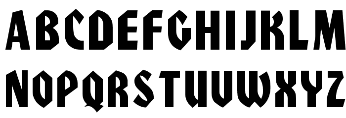 Civic Font UPPERCASE