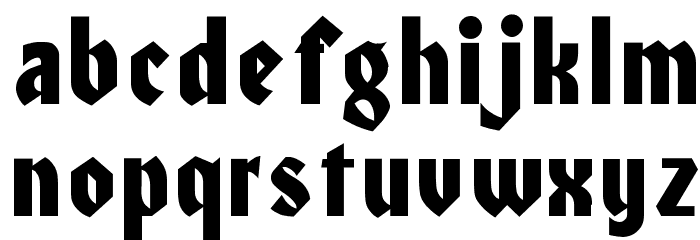Civic Font LOWERCASE