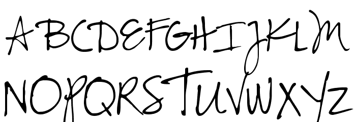 CK Alis Hand Font UPPERCASE
