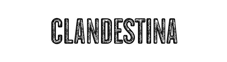 CLANDESTINA  フリーフォントのダウンロード