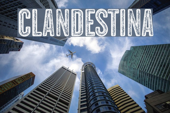 CLANDESTINA Font examples