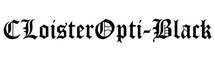 CLoisterOpti-Black  Fuentes Gratis Descargar