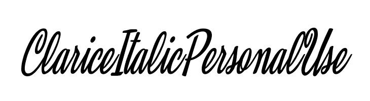 Clarice Italic Personal Use  Free Fonts Download