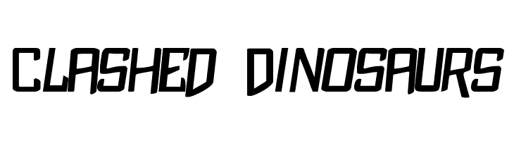 Clashed Dinosaurs  Free Fonts Download