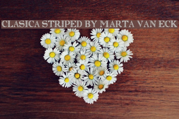Clasica Striped by Marta van Eck Schriftart examples
