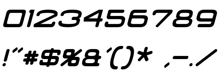 Classic Robot Italic Font OTHER CHARS