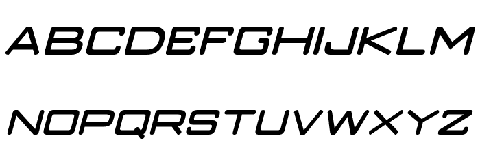 Classic Robot Italic Font UPPERCASE