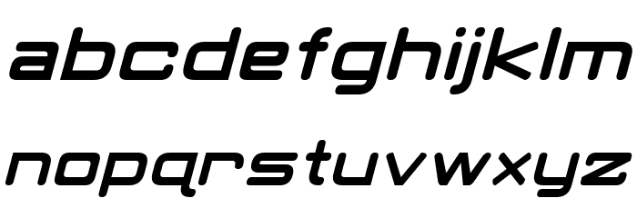 Classic Robot Italic Font LOWERCASE