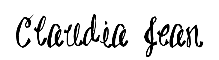 Claudia Jean  Free Fonts Download