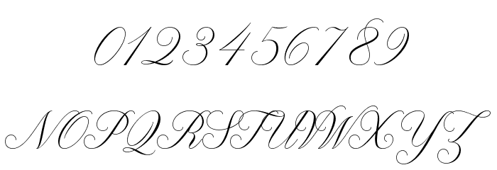 Claudya Script Demo Font OTHER CHARS