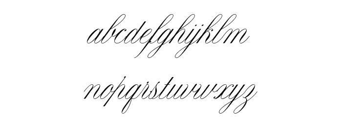 Claudya Script Demo Font LOWERCASE