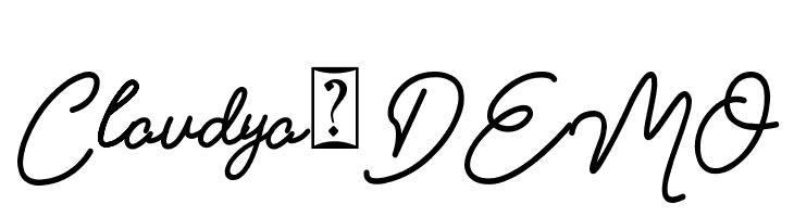 Claudya_DEMO  Free Fonts Download