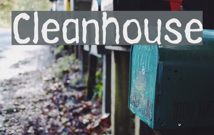Cleanhouse Font examples