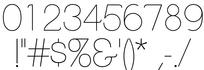 ClementePDaa-Hairline Font OTHER CHARS