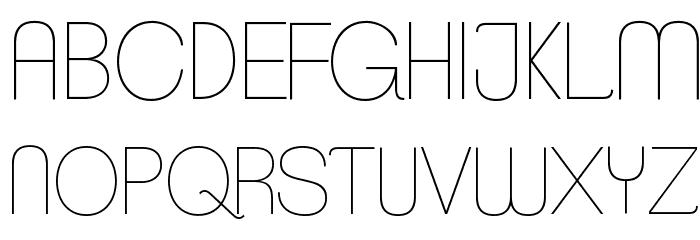 ClementePDaa-Hairline Font UPPERCASE