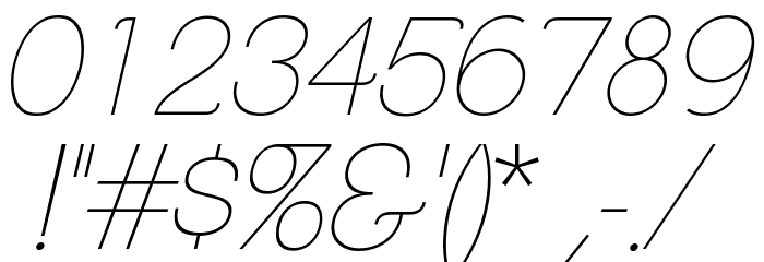 ClementePDab-HairlineItalic Font OTHER CHARS
