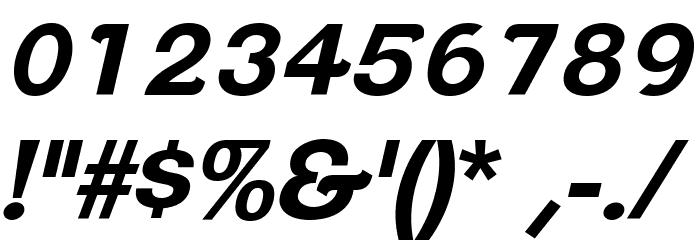 ClementePDan-BoldItalic Font OTHER CHARS