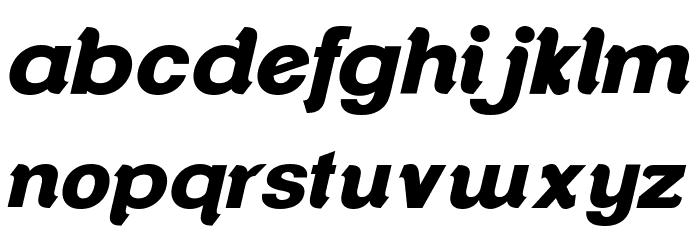 ClementePDap-HeavyItalic Font LOWERCASE