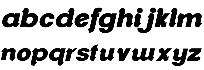 ClementePDar-UltraBoldItalic Font LOWERCASE