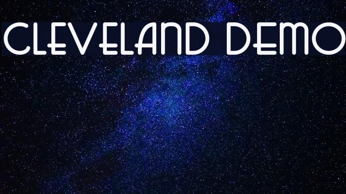 Cleveland DEMO لخطوط تنزيل examples
