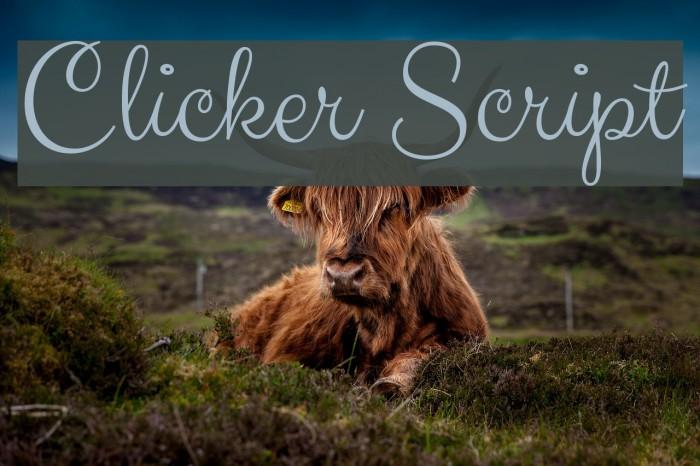 Clicker Script Font examples
