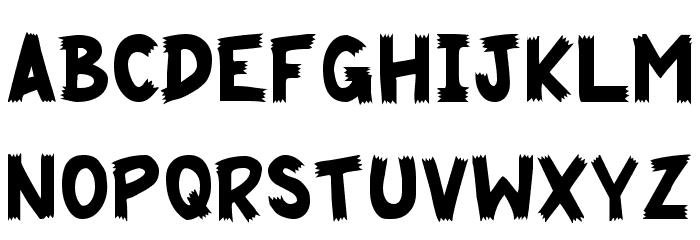 Cliffhanger Font LOWERCASE