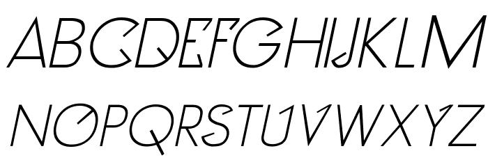 Clocker Italic Fonte MAIÚSCULAS
