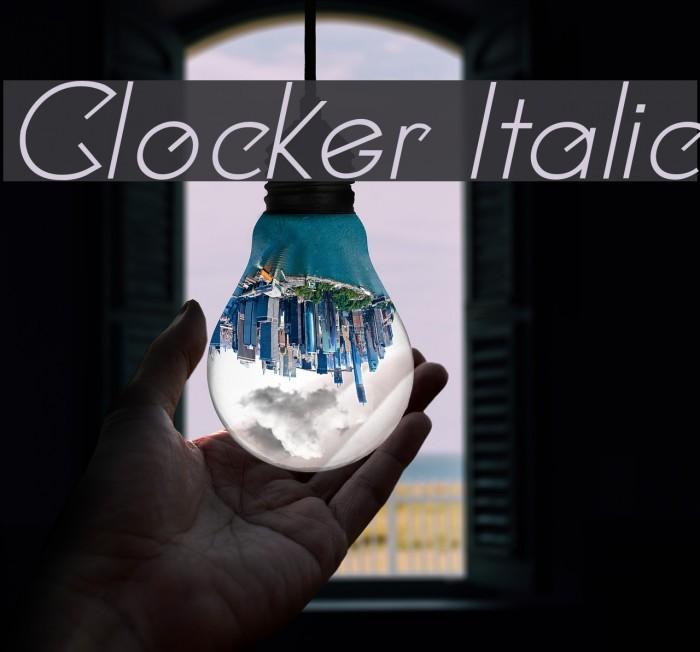 Clocker Italic Fonte examples